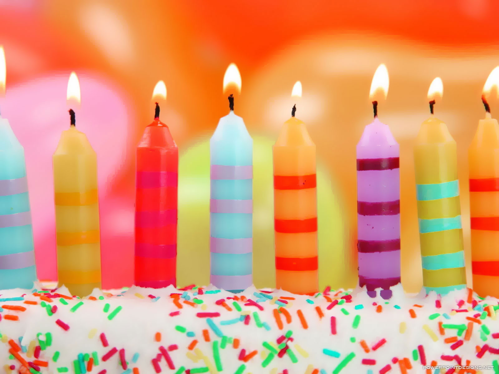 Birthday Candles Background For Powerpoint – Powerpoint