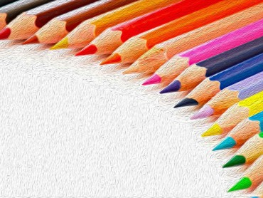 Colored Pencils Painting Background